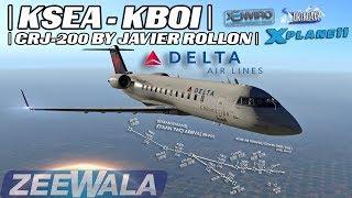 KSEA To KBOI | CRJ-200 by Javier Rollon | In X-Plane 11