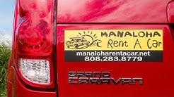 RENTAL CARS ON MAUI HAWAII: Manaloha Rent A Car Review