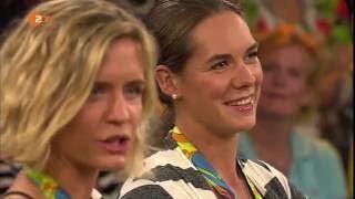 Kira Walkenhorst & Laura Ludwig bei Markus Lanz nach Olympiasieg