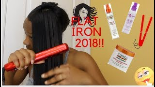 FINALLY RELAXED MY HAIR:MY FLAT IRON PROCESS (Pt. 4): MAY 2018