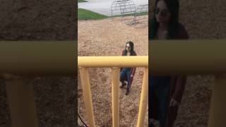 Crazy lady pulls knife in kids