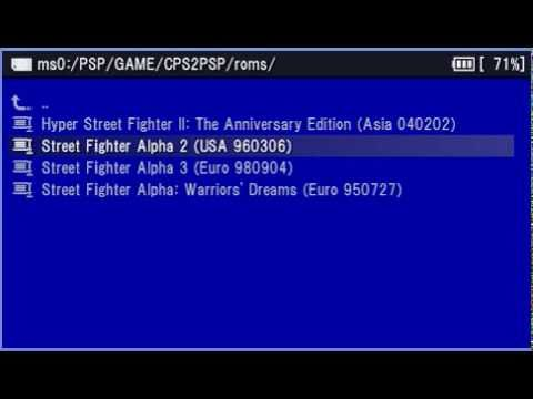 CPS2 PSP with Rom Game Download Street Fighter Alpha (Zero ...