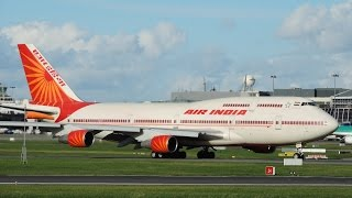 Air India Boeing 747 TakeOff Dublin Airport