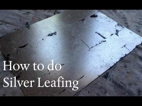How to apply Silver Leafing