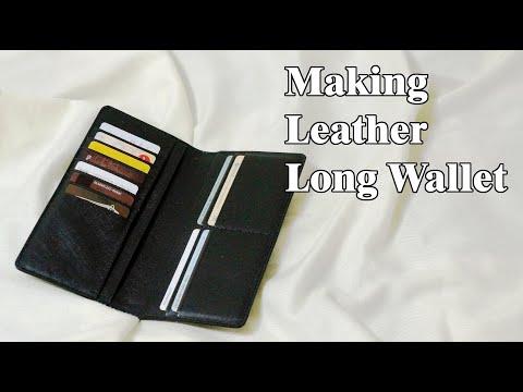 45 [Leather Craft] Making Leather Long Wallet / [가죽공예] 가죽 장지갑 만들기 / Free Pattern