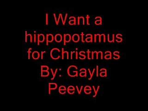 i want a hippopotamus for christmas instrumental free mp3
