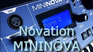Novation Mininova Synthesizer - no talking video