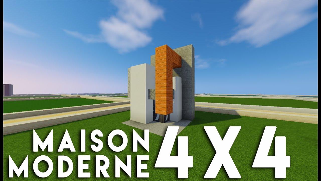 Minecraft Tuto Construction Maison Moderne En 4x4