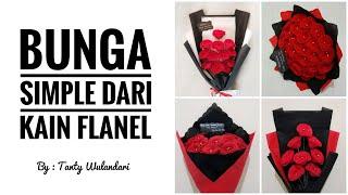 Cara membuat bunga yang simple dari kain flanel