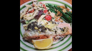 Baked Salmon with a Dill Sauce