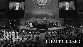 Fact-checking President Trump's speech to the United Nations general assembly   Fact Checker