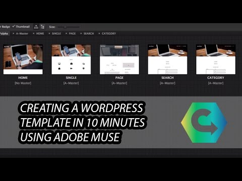 Creating a WordPress Template in Adobe Muse in 10 minutes