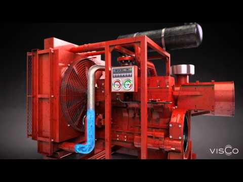 Gas flowing through compressor pipes - 3d animation