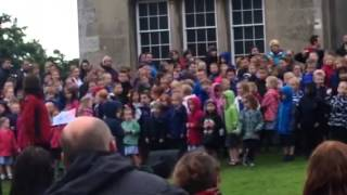Bishop Wilton and many other schools - Sledmere Concert ( Aston and Darcey )