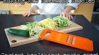 Making Zucchini Noodles With Julienne Vegetable Slicer