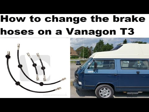 Vanagon Steel Brake Line NEW Rear T To Right Hose