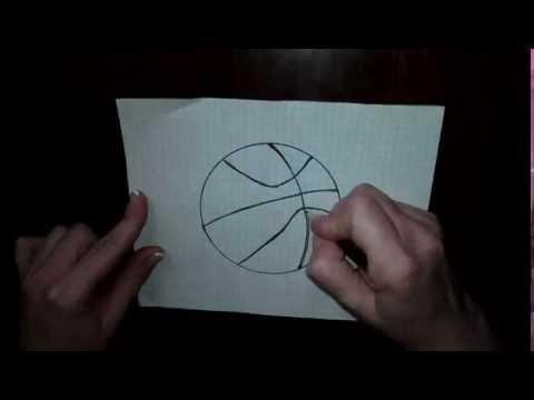Рисуем баскетбольный мяч - Draw a basketball - 画一个篮球