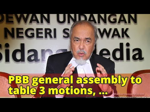 PBB general assembly to table 3 motions, including MA63