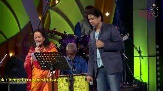 """""""Besuge Besuge"""" song by Vani Jairam & Vijay Prakash @ 53rd Bengaluru Ganesh Utsava..!!!"""