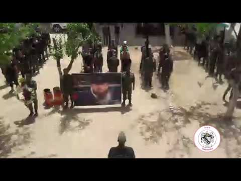 Syria, Damascus, The start of Funeral for Arab National Guard Commander Hesen Aesa