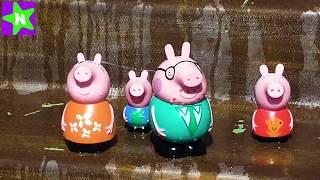Свинка Пеппа новые серии 2017. Видео Для детей. Катаемся с горок
