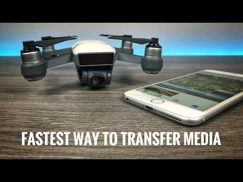 Fastest Way To Transfer Media from DJI Spark / DJI Mavic Air