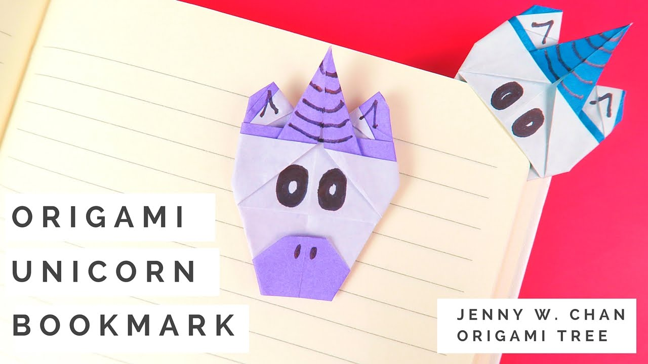 origami unicorn bookmark tutorial how to make a paper