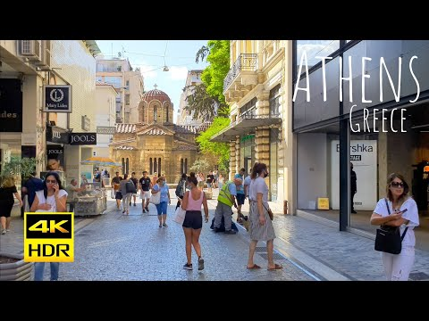 Athens, Greece 4K-HDR Walking Tour - 2021 - Tourister Tours