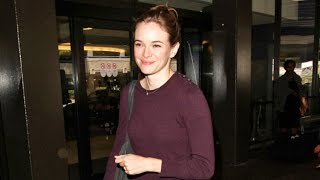 Newly Engaged Danielle Panabaker Flaunts Ring And Chats About Her Beloved Maltese At LAX