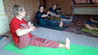 Открытый урок йоги   Растягиваем спину и ноги   ЙОГА в ПОДМОСКОВЬЕ