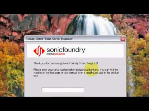 sound forge 6.0 serial key free download