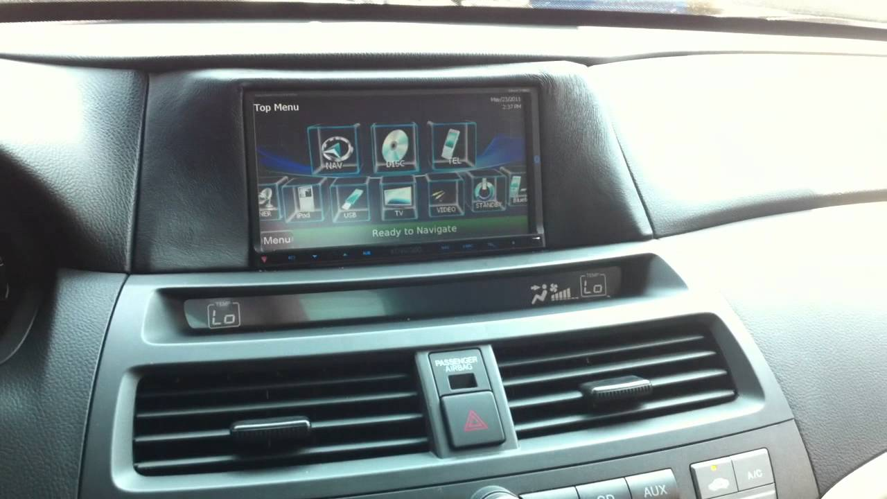 2010 Honda Accord Custom Double Din Dash Kit With Factory Navigation