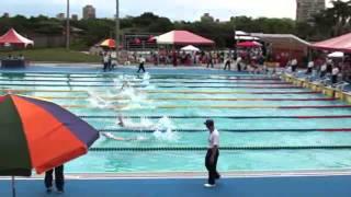 102年全中運游泳高男50仰式決賽
