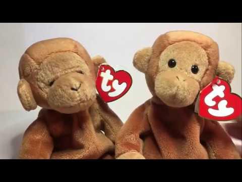 a8ea015d293 Ty Beanie Baby Nana Fake vs Authentic - YouTube