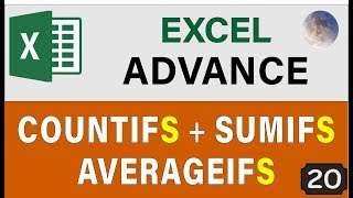 Excel COUNTIFS, AVERAGEIFS & SUMIFS Functions 👉 Advance Excel Tips and Tricks 2019 🔥 (IFS Formula)