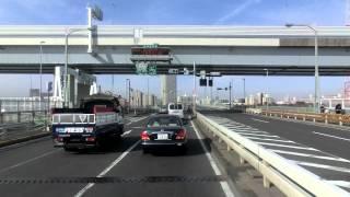車載カメラ 東京都内新大橋通り上り 船堀橋 Tokyo street