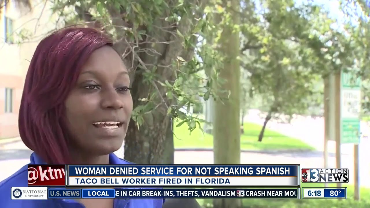 Woman denied food at Taco Bell