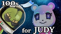 Spending 100x Nook Miles Tickets for JUDY - Animal Crossing: New Horizons