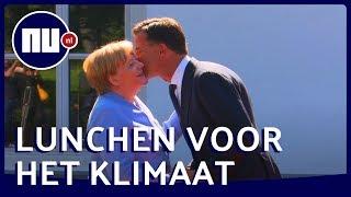 Hoog bezoek voor premier Mark Rutte: Angela Merkel komt praten over klimaat