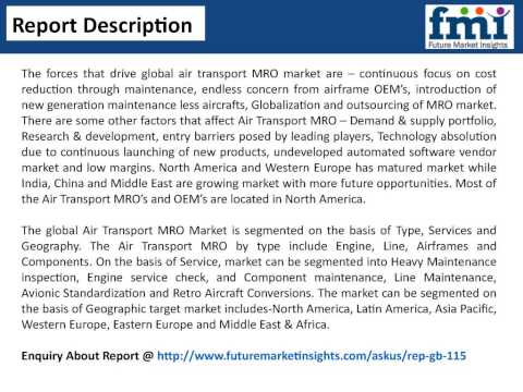 Air Transport MRO Market - Global Industry Analysis, Size and Forecast, 2014 to 2020