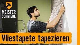 Vliestapete tapezieren | HORNBACH Meisterschmiede