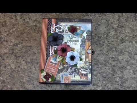 PART 1 TUTORIAL MINI ALBUM using GRAPHIC 45 CITY SCAPES PAPER - DESIGNS BY SHELLIE