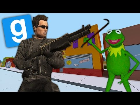 Kermit the Frog Meets the Terminator! - Gmod Hide and Seek Funny Moments