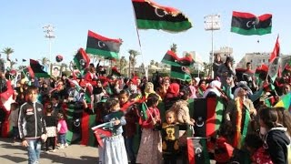 Libyans celebrate the sixth anniversary of the popular uprising