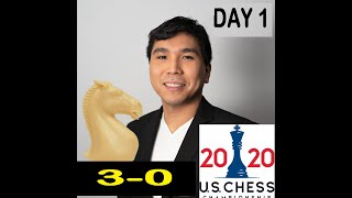 LiveStream ~ GM Wesley So  Leads US CHESS CHAMPIONSHIP After Day 1 w/ 3 Wins & 0 Loss~ Replay Games