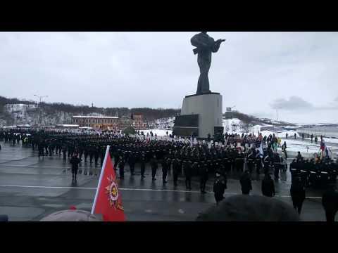 Североморск парад, бессмертный полк ч2