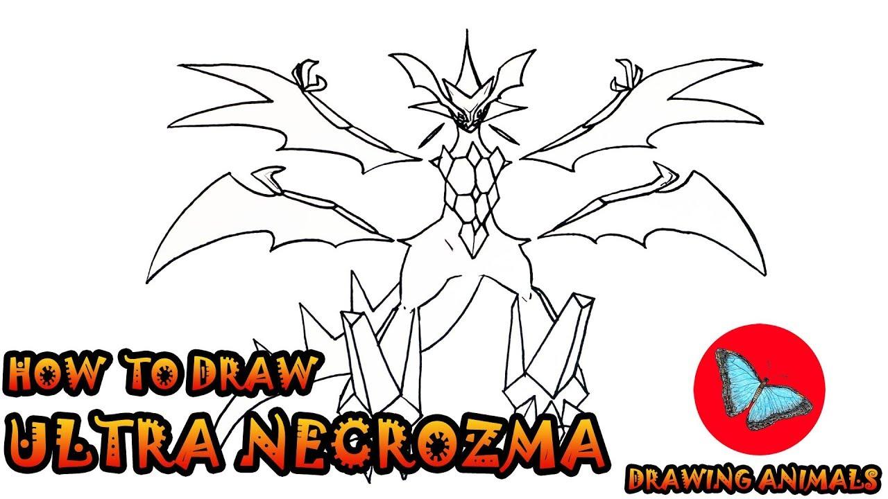 How To Draw Ultra Necrozma Pokemon Drawing Animals Youtube
