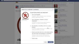 Como denunciar publicações ofensivas no Facebook.