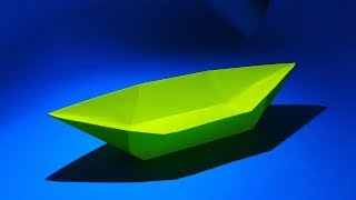 How to make a paper boat that floats - Origami boat