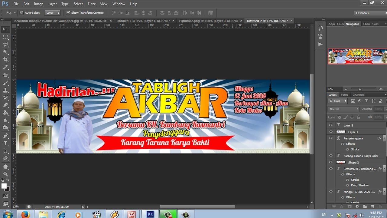 Cara Buat Banner Dengan Photoshop - desain spanduk kreatif